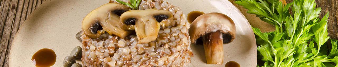 Buchweizenrisotto mit Pilzen
