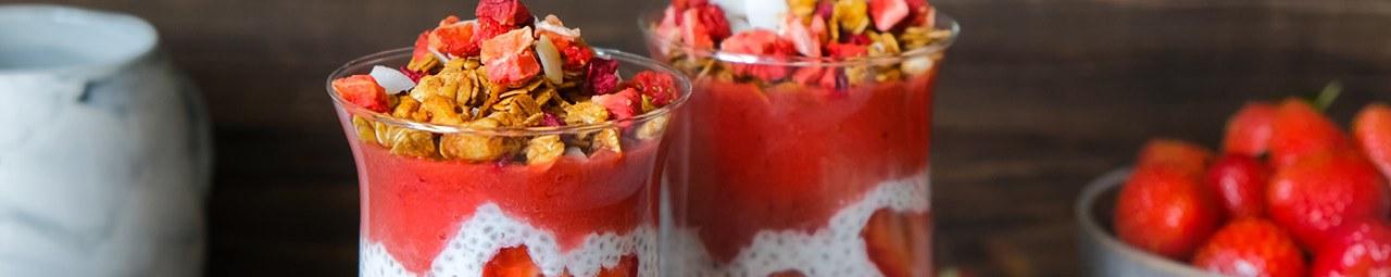 Erdbeer Chia Pudding