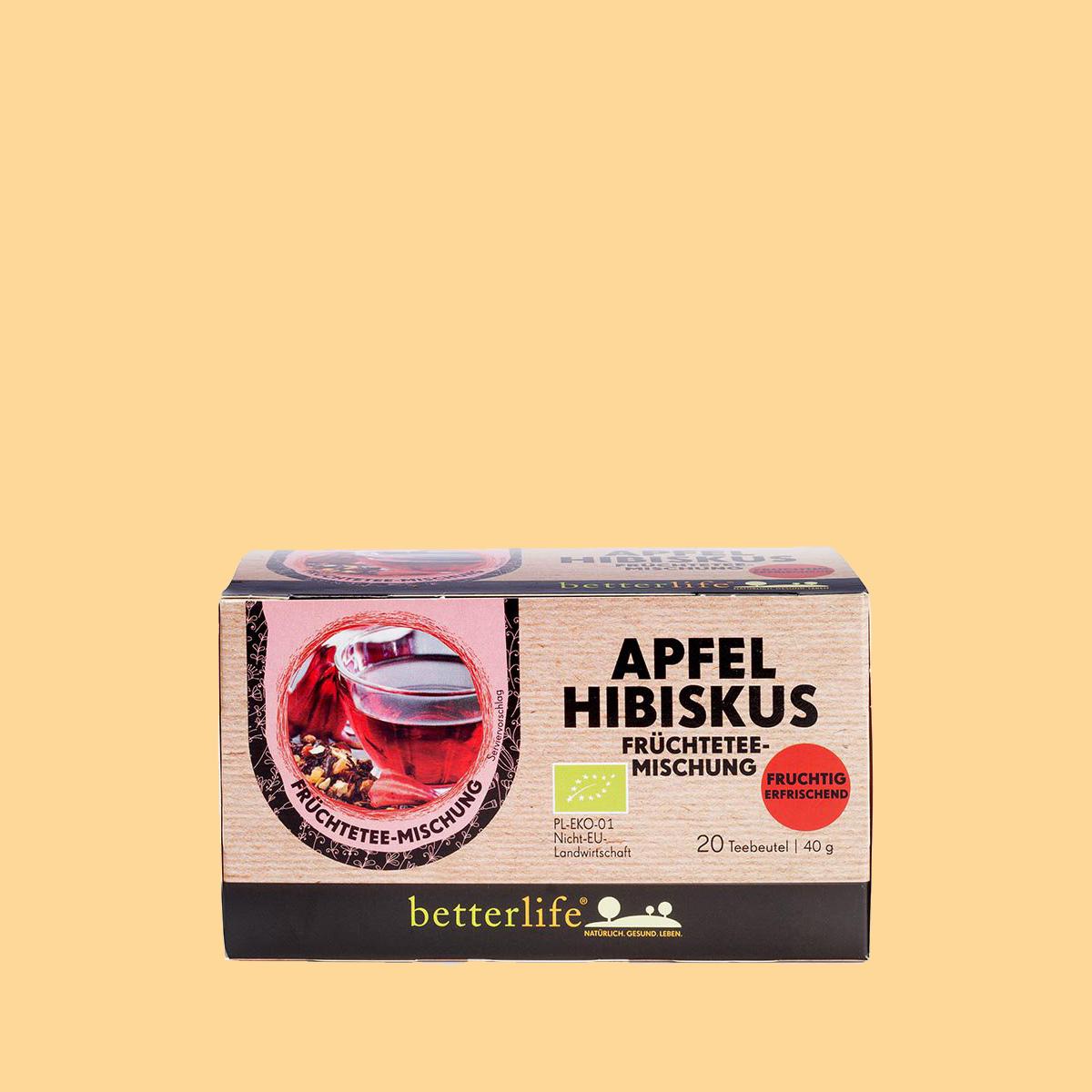 Betterlife Hagebutten Tee mit Hibiskus