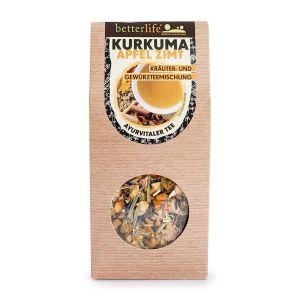 BETTERLIFE Kurkuma Apfel Zimt Kräuter- Gewürzmischung Ayurvitaler Tee