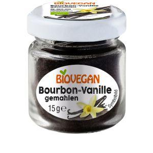 Bourbon-Vanille im Glas, gemahlen, Bio