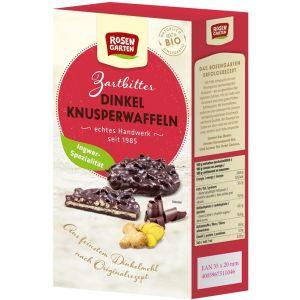 Dinkel-Knusperwaffeln Zartbitter-Ingwer