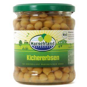 Bio-Kichererbsen 370 ml Gl. MARSCHLAND