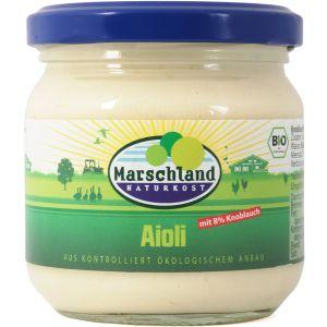 Bio-Aioli (mit 8% Knoblauch) 215 ml Gl. MARSCHLAND