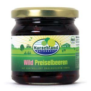 Bio-Wildpreiselbeeren 212 ml Gl. MARSCHLAND