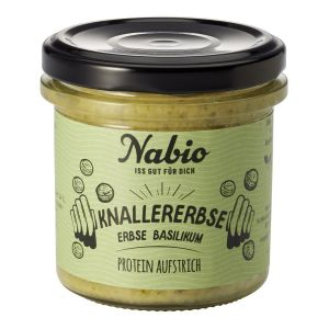 Nabio Protein-Aufstrich Knallererbse Erbse Basilikum