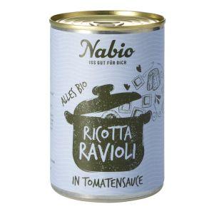Nabio Ravioli in Ricotta-Tomatensauce
