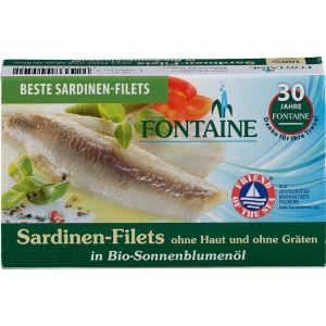 Sardinen ohne Haut und Gräten in Bio-Sonnenblumenöl