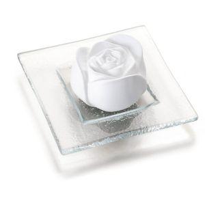 Duftstein Rosenblüte mit Glasteller