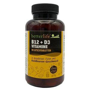 B12 + D3 Vitamine, Lutschtabletten