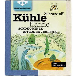 Kühle Kanne Schokominze-Zitronenverbene Tee, Pyramidenbeutel