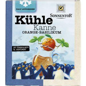 Kühle Kanne Orange-Basilikum Tee, Pyramidenbeutel