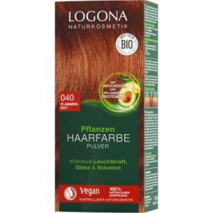 LOGONA Pflanzen Haarfarbe Pulver 040 flammenrot