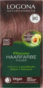 LOGONA Pflanzen-Haarfarbe Pulver 090 dunkelbraun