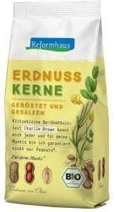 REFORMHAUS Erdnusskerne geröstet/gesalzen
