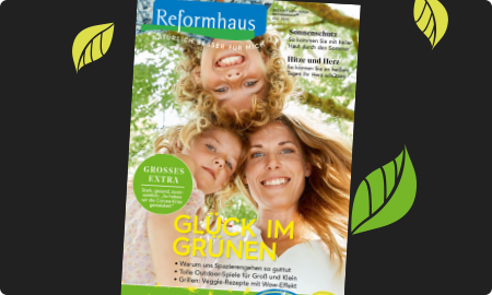 Titelbild Reformhaus Magazin Juli